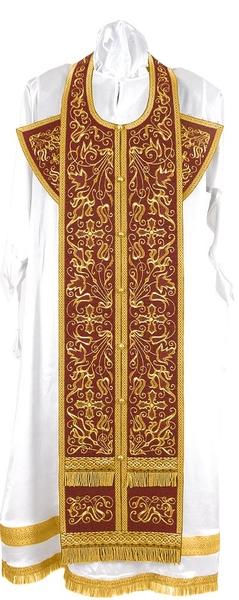 Embroidered Epitrakhilion set - Iris (claret-gold)