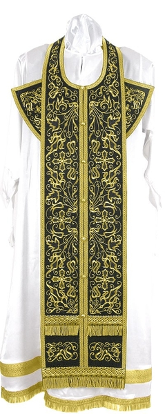 Embroidered Epitrakhilion set - Iris (black-gold)