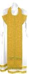 Embroidered Epitrakhilion set - Iris (yellow-gold)