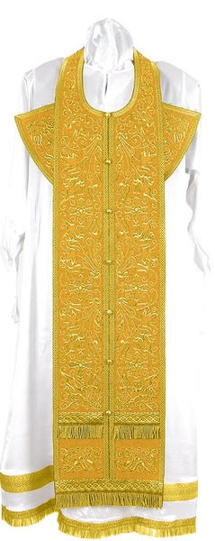 Embroidered Epitrakhilion set - Iris (yellow-gold)