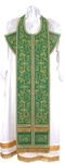 Embroidered Epitrakhilion set - Iris (green-gold)