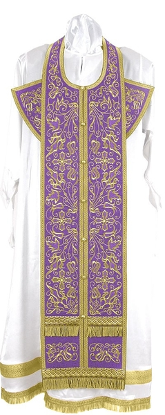 Embroidered Epitrachelion Set - Iris (Violet-Gold)