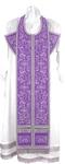 Embroidered Epitrakhilion set - Iris (violet-silver)