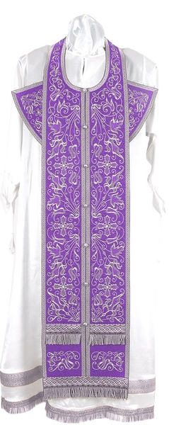 Embroidered Epitrakhilion set - Iris (violet-silver)