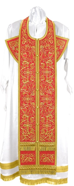 Embroidered Epitrakhilion set - Iris (red-gold)