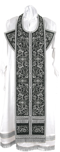 Embroidered Epitrakhilion set - Iris (black-silver)
