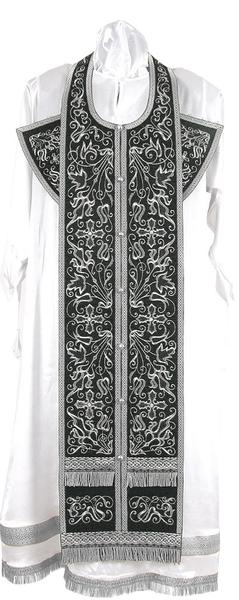 Embroidered Epitrakhilion set - Iris (black-silver)