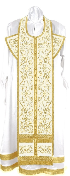 Embroidered Epitrachelion Set - Iris (White-Gold)