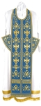 Embroidered Epitrakhilion set - Byzantine Eagle (blue-gold)