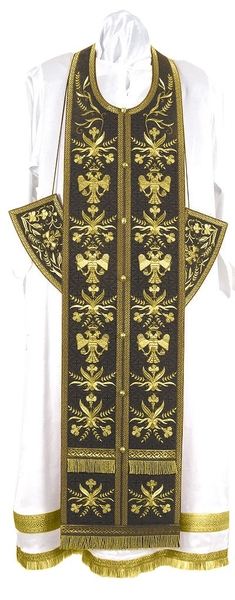 Embroidered Epitrakhilion set - Byzantine Eagle (black-gold)