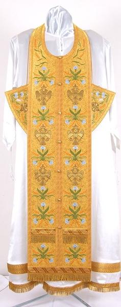 Embroidered Epitrakhilion set - Byzantine Eagle (yellow-gold)