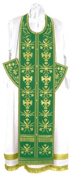 Embroidered Epitrakhilion set - Byzantine Eagle (green-gold)