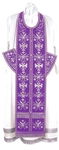 Embroidered Epitrakhilion set - Byzantine Eagle (violet-silver)