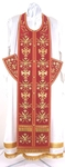 Embroidered Epitrakhilion set - Byzantine Eagle (red-gold)