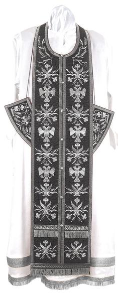 Embroidered Epitrakhilion set - Byzantine Eagle (black-silver)
