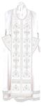 Embroidered Epitrakhilion set - Byzantine Eagle (white-silver)