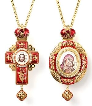 Bishop cross-panagia set no.8