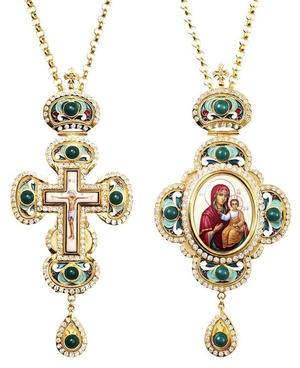 Bishop cross-panagia set no.9