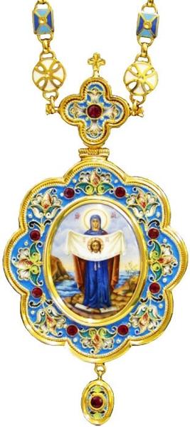 Bishop encolpion panagia no.124