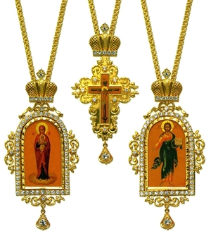 Bishop encolpion panagia set - 13