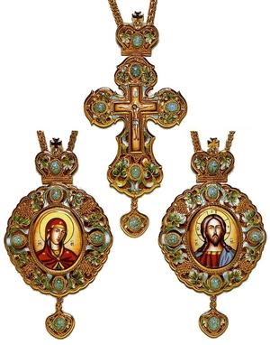 Bishop encolpion panagia set - 17
