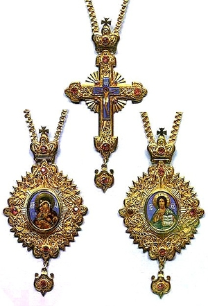 Bishop encolpion panagia set - 19