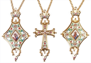 Bishop encolpion panagia set - 22