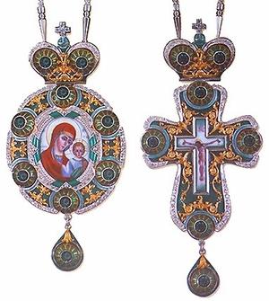 Bishop encolpion panagia set - 25