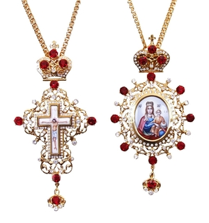 Bishop encolpion panagia set - 35