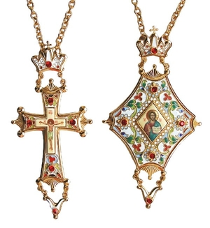 Bishop encolpion panagia set - 39