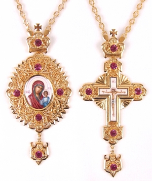 Bishop encolpion panagia set - 42