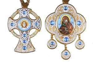 Bishop encolpion panagia set no.13