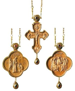 Bishop encolpion panagia set no.700-3