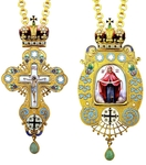 Bishop encolpion panagia-cross set no.136