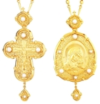 Bishop encolpion panagia set no.1000