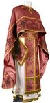 Embroidered Greek Priest vestments - Chrysanthemum (claret-gold)