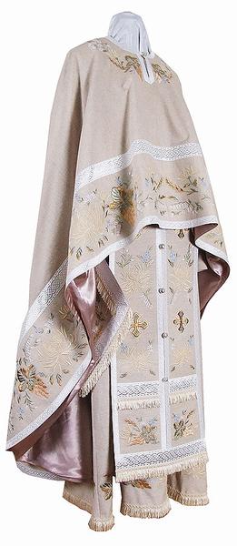 Embroidered Greek Priest vestments - Chrysanthemum (linen)