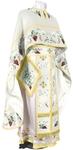 Embroidered Greek Priest vestments - Chrysanthemum (white-gold)