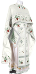 Embroidered Greek Priest vestments - Chrysanthemum (white-silver)