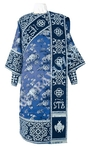 Embroidered Deacon vestments - Wattled (blue-silver)