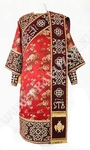 Embroidered Deacon vestments - Wattled (red-gold)