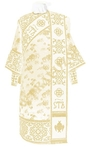 Embroidered Deacon vestments - Wattled (white-gold)