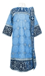 Embroidered Deacon vestments - Iris (blue-silver)
