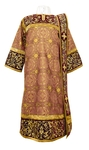 Embroidered Deacon vestments - Iris (claret-gold)