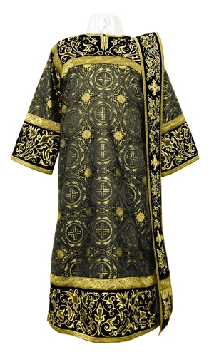 Embroidered Deacon vestments - Iris (black-gold)