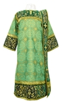Embroidered Deacon vestments - Iris (green-gold)