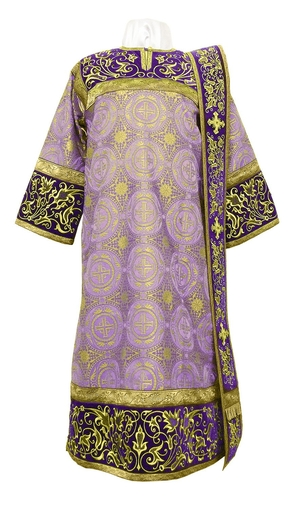 Embroidered Deacon vestments - Iris (violet-gold)