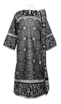 Embroidered Deacon vestments - Iris (black-silver)