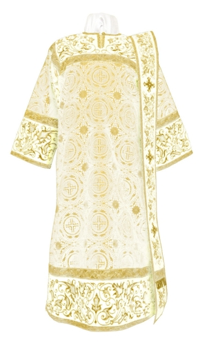 Embroidered Deacon vestments - Iris (white-gold)