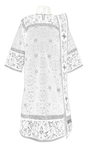 Embroidered Deacon vestments - Iris (white-silver)